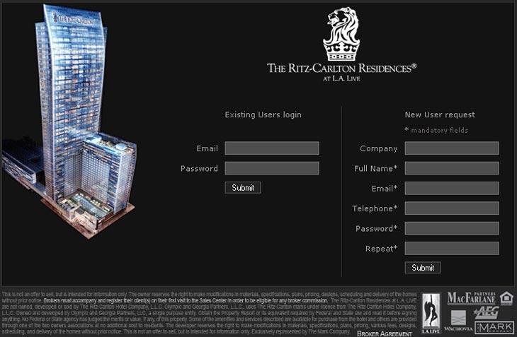 Ritz-Carlton Residences at L.A. LIVE - Broker Tool