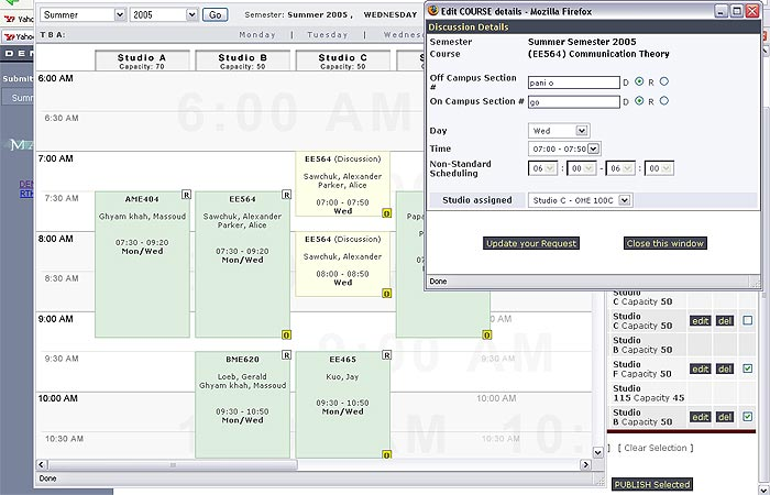 University of Southern California (USC) Course Scheduler